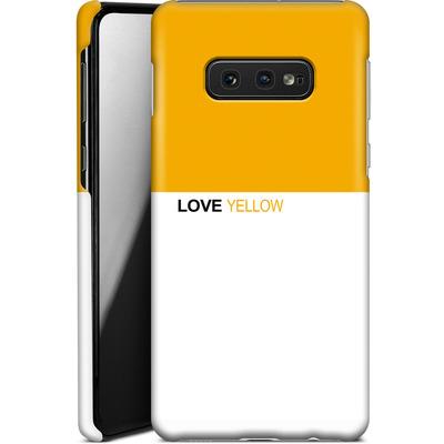 Samsung Galaxy S10e Smartphone Huelle - LoveYellow von caseable Designs