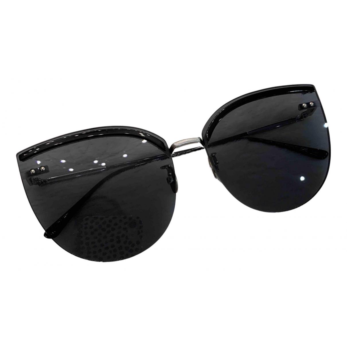 Bottega Veneta \N Sonnenbrillen in  Schwarz Metall