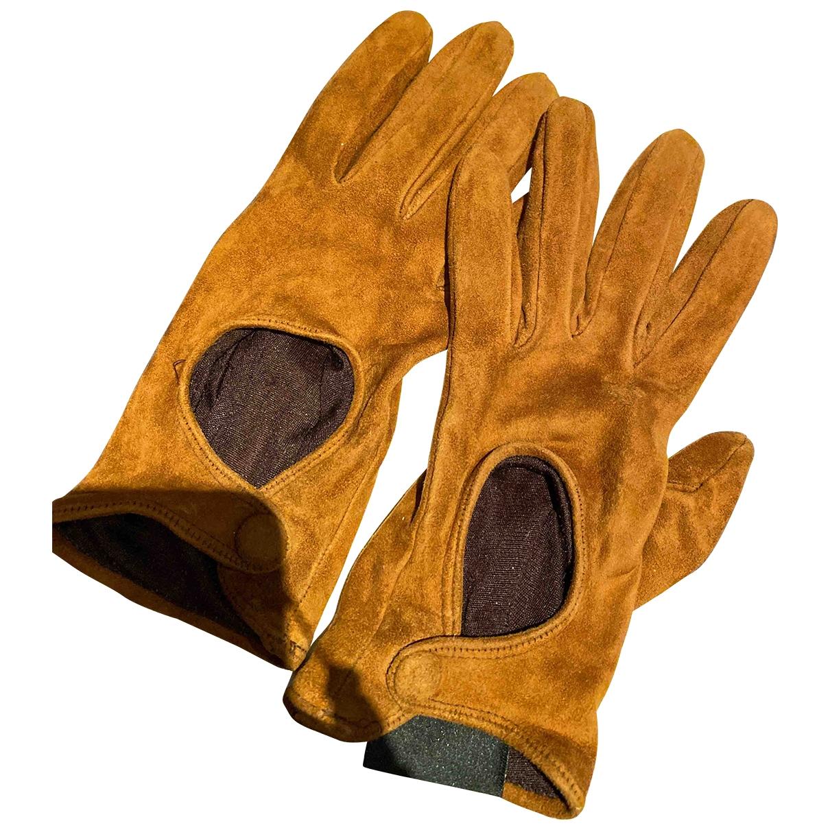 Sergio Rossi \N Handschuhe in  Braun Veloursleder
