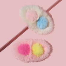 2pcs Toddler Girls Fluffy Hair Clip