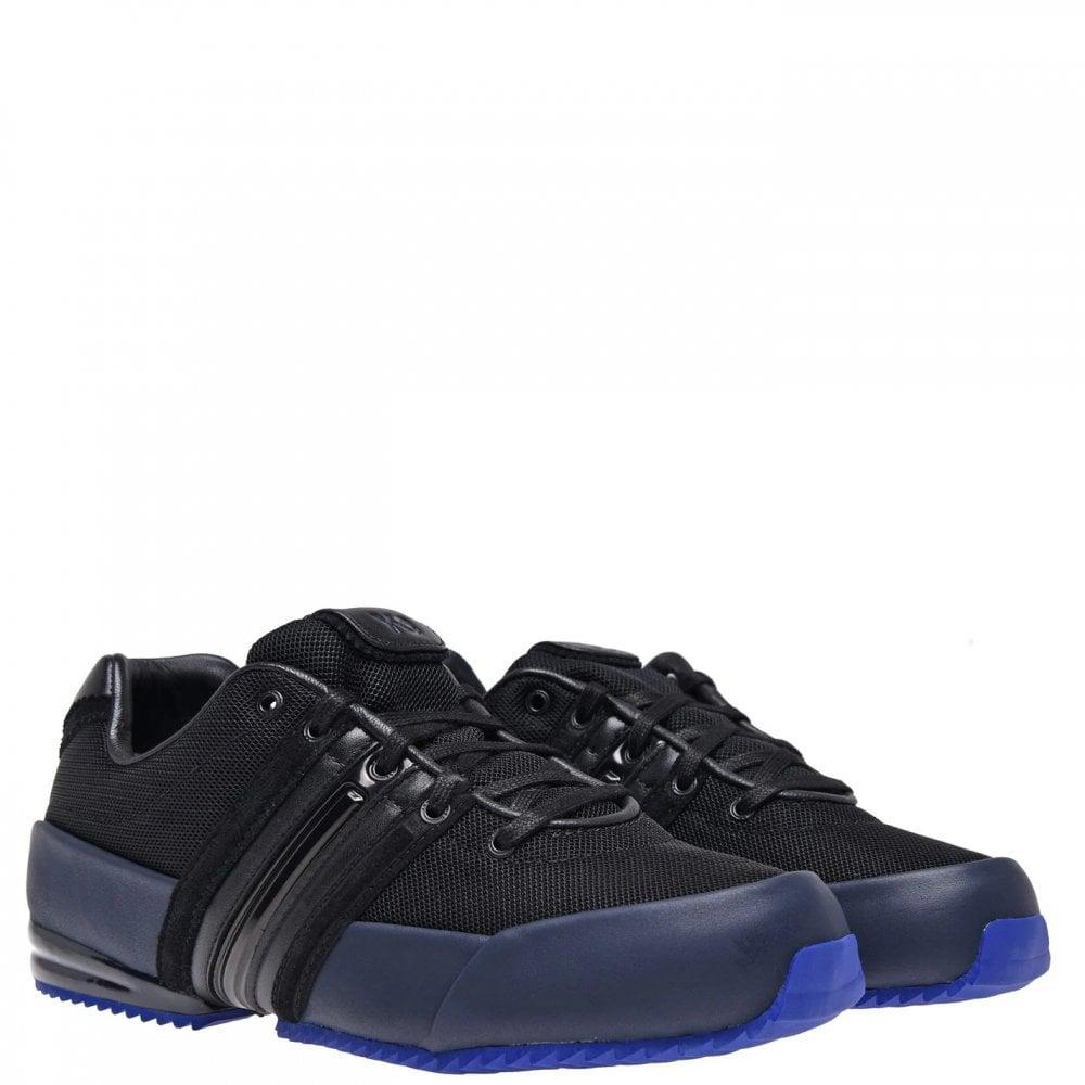 Y-3 Black/blue Sprint Trainers Colour: BLACK, Size: 8.5