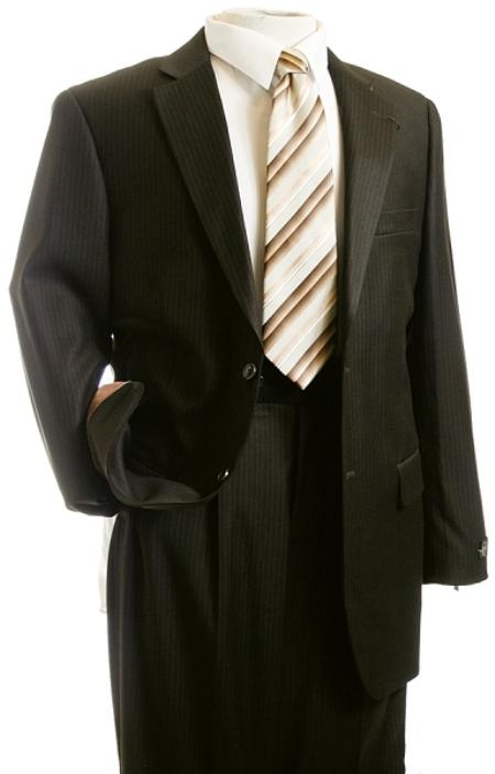 Mens Suit Brown Pinstripe Designer affordable suit online sale