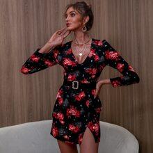 D&M Kleid mit Blumen Muster ohne Guertel