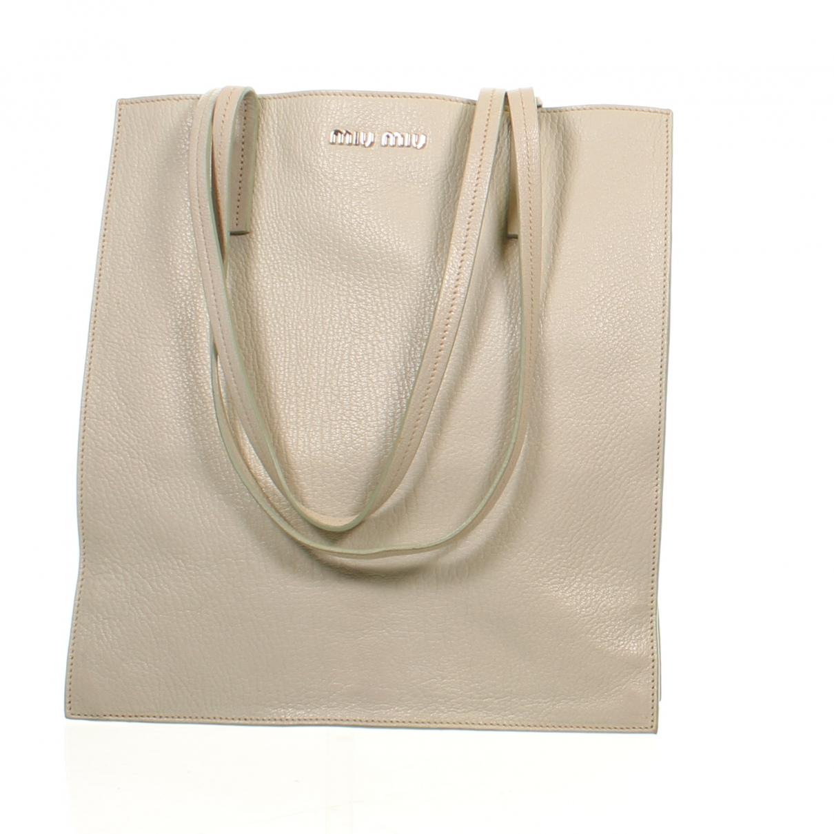 Miu Miu Madras Handtasche in  Gruen Leder
