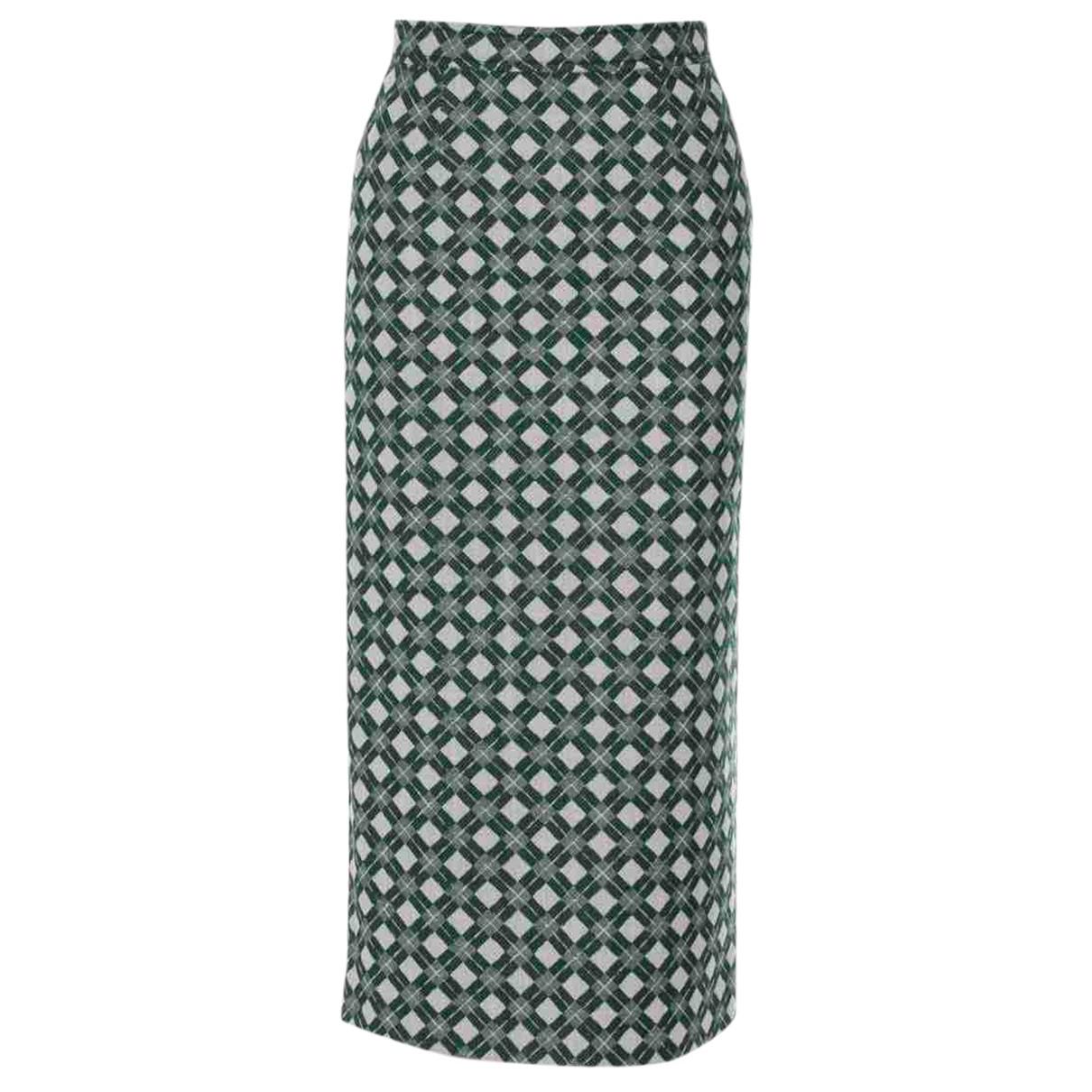 Miu Miu N Green Wool skirt for Women 38 IT