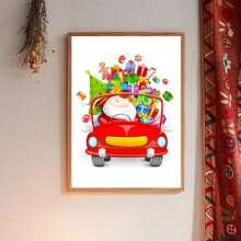 Wandmalerei mit Weihnachtsmann Muster ohne Rahmen