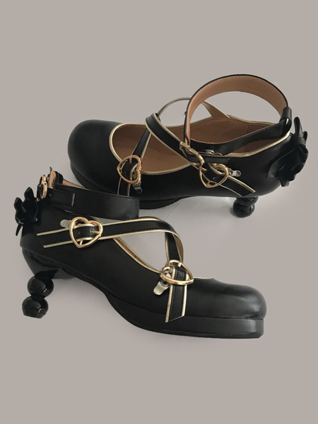 Milanoo Classical Lolita Pumps Bows Gourd Heel Lolita Shoes