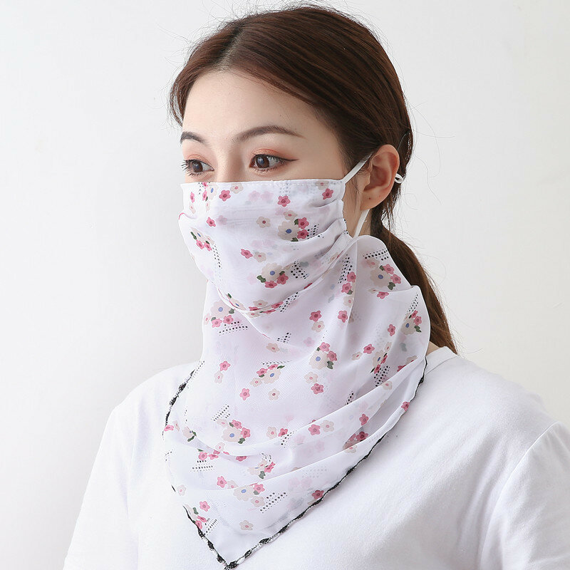 Outdoor Riding Mask Printing Neck Sunscreen Scarf Mask Breathable Quick-drying Summer