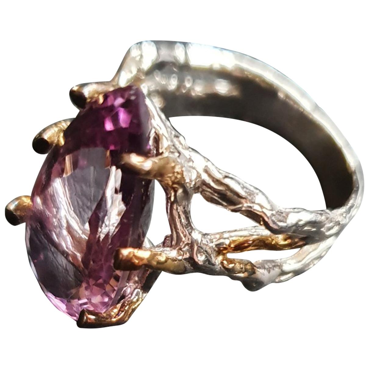 - Bague   pour femme en argent - violet