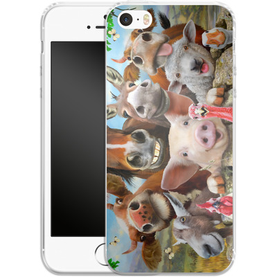 Apple iPhone 5 Silikon Handyhuelle - Farm Selfie von Howard Robinson