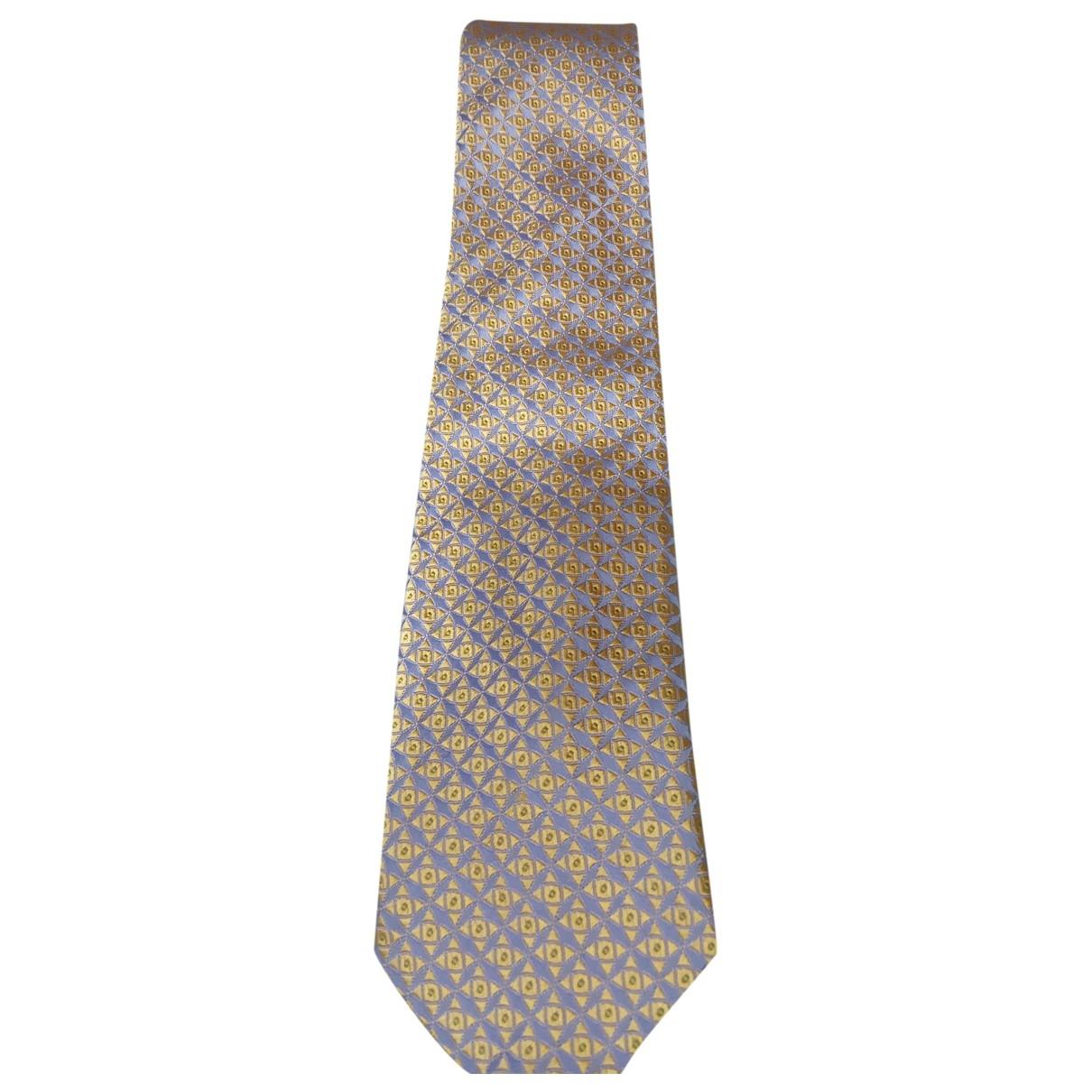 Canali - Cravates   pour homme en soie - dore