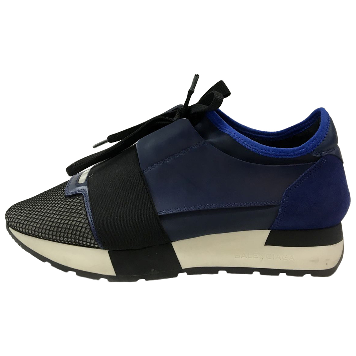 Balenciaga Race Blue Suede Trainers for Women 37.5 IT
