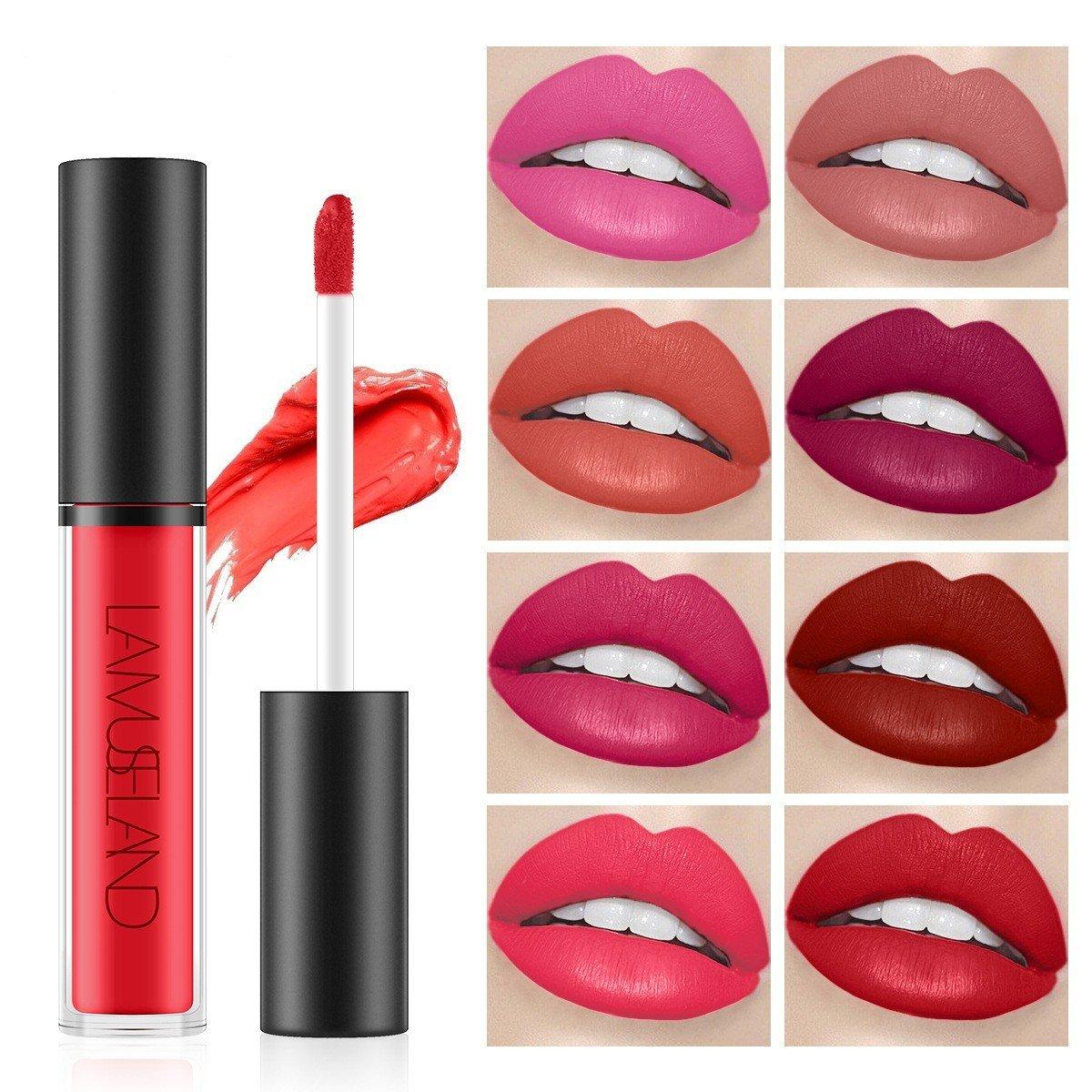 12 Colors Lip Gloss Long-Lasting Waterproof Non-Stick Cup Liquid Lipstick Lip Makeup