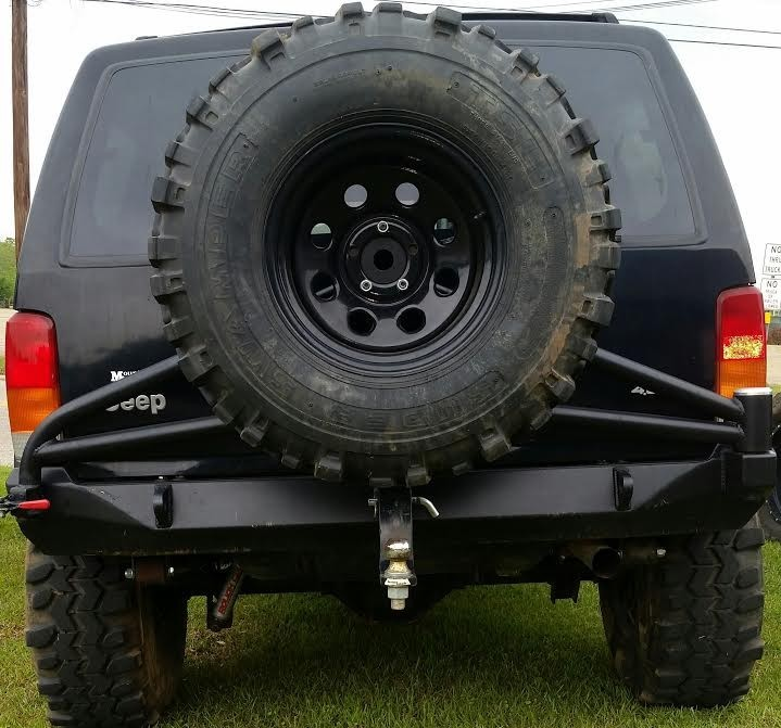 Under Cover Fabworks UCF556 Steel Rear Bumper & Tire Carrier Jeep XJ