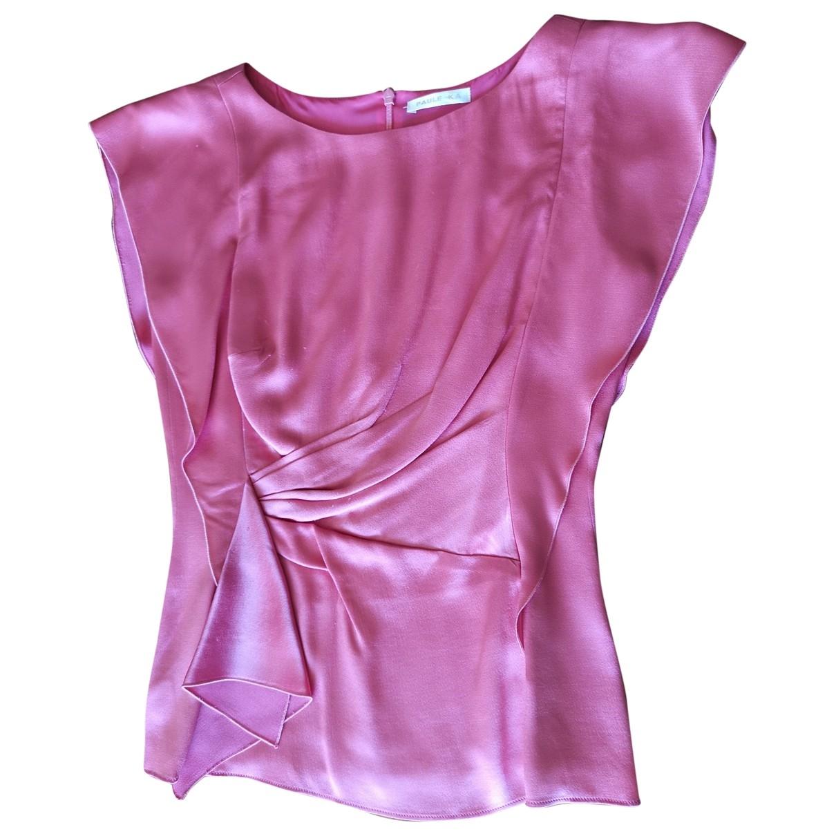 Paule Ka \N Pink Silk  top for Women 36 FR