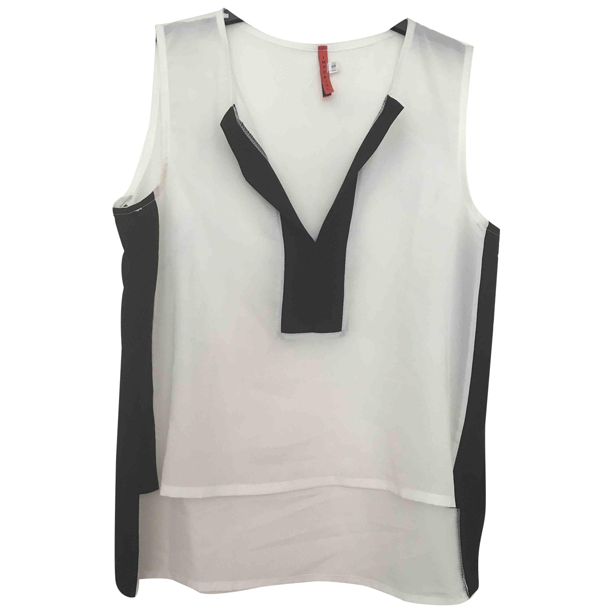 Imperial \N Top in  Weiss Polyester
