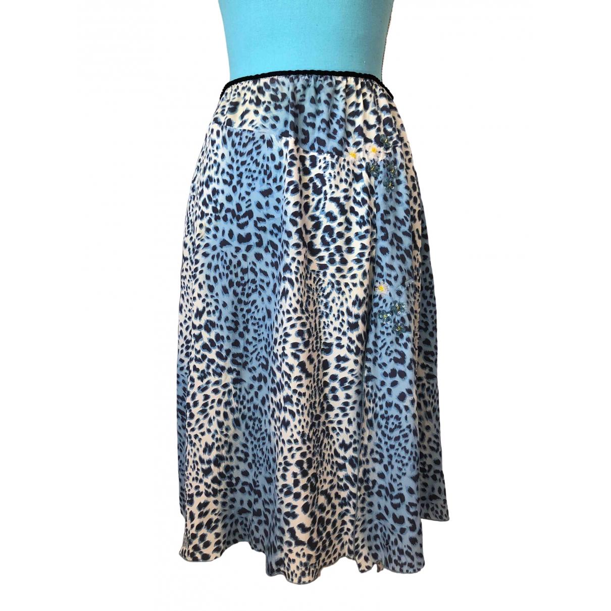 Blumarine \N Blue Silk skirt for Women 40 IT