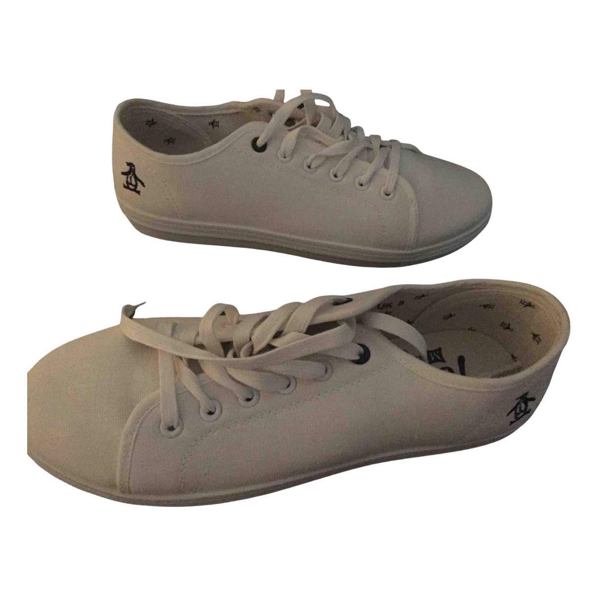 Original Penguin \N Sneakers in  Weiss Leinen