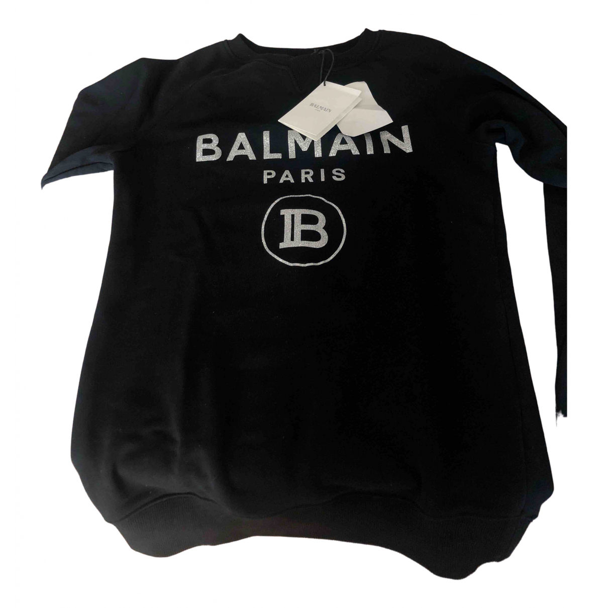 Balmain \N Pullover, StrickJacke in  Schwarz Baumwolle