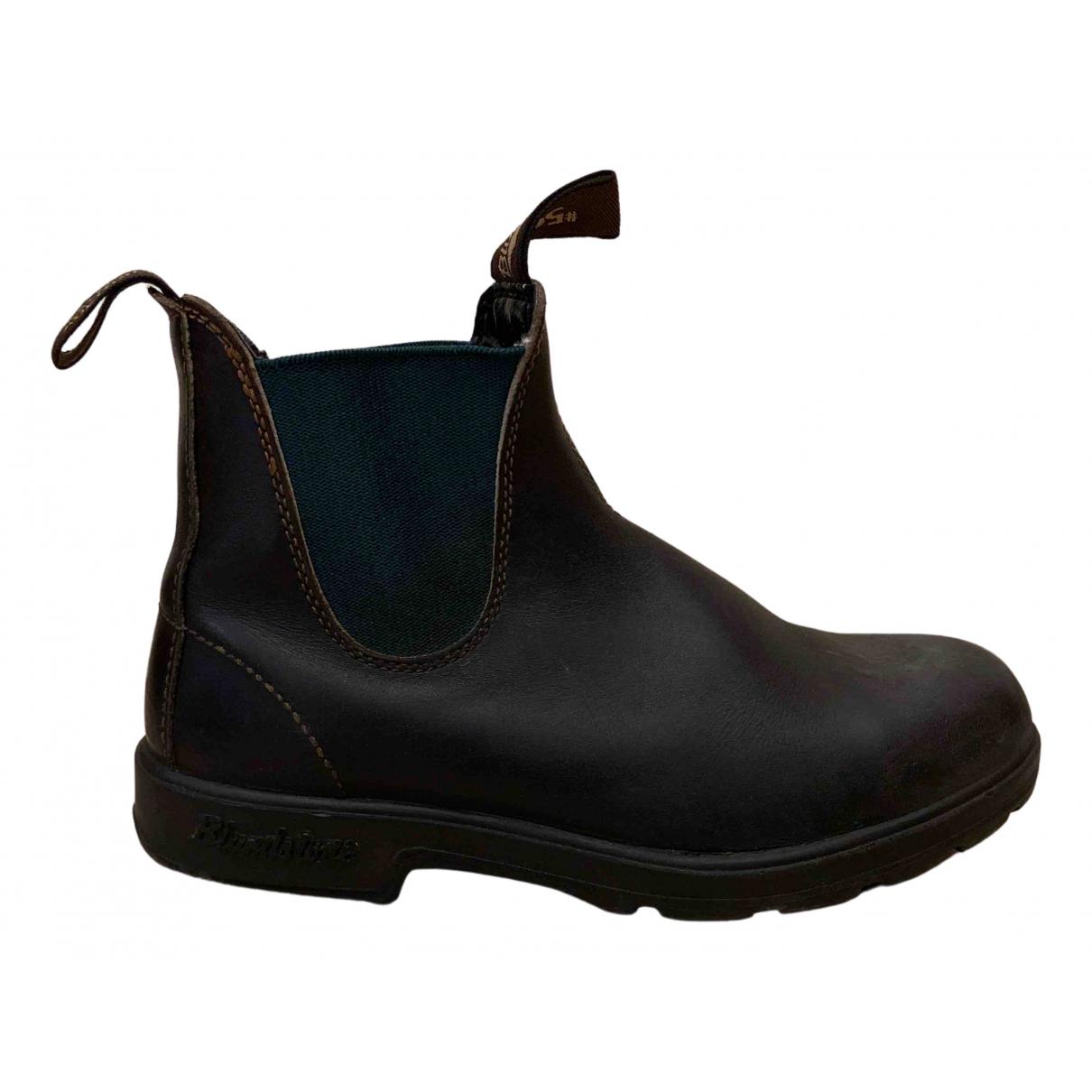 Blundstone - Boots   pour femme en cuir - marron