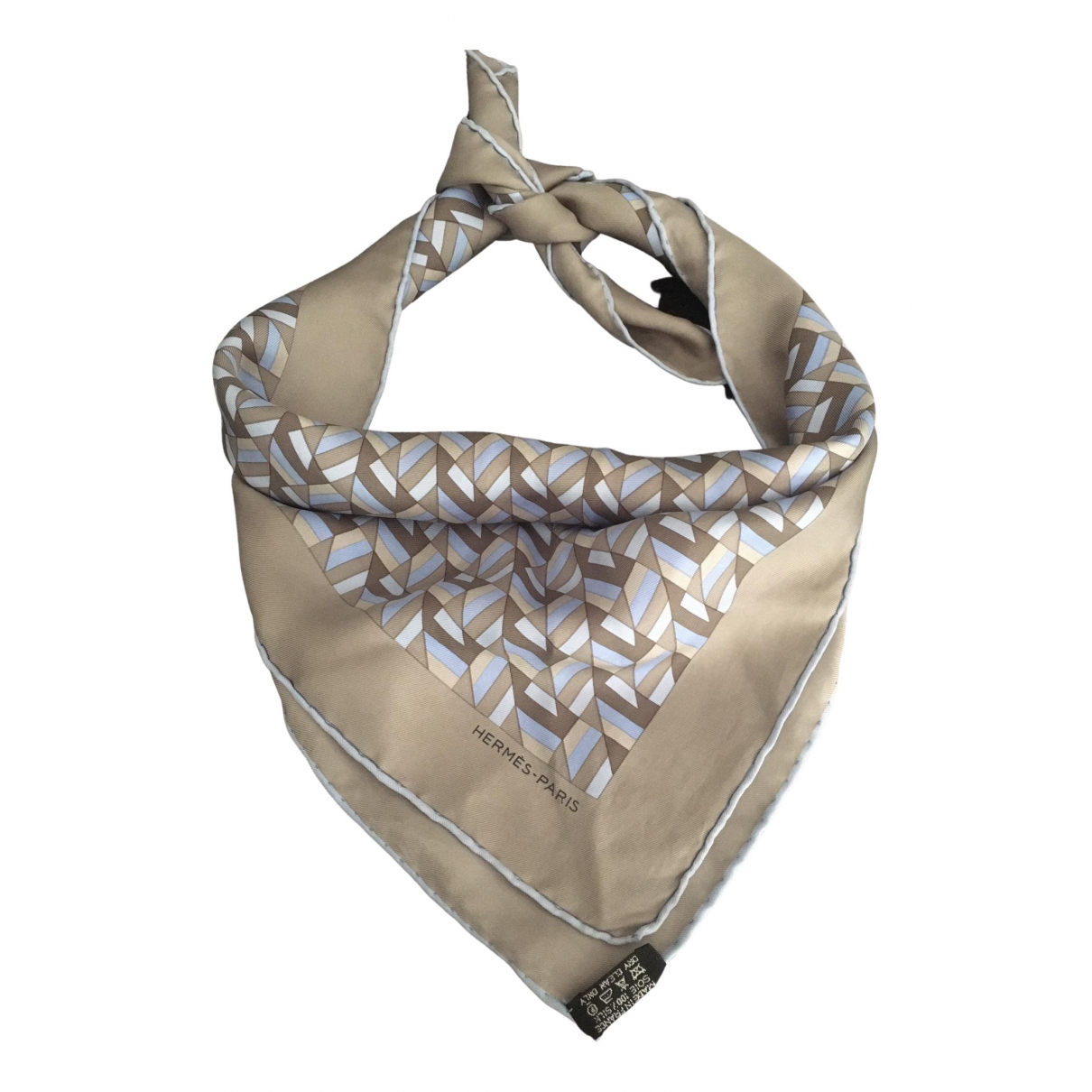 Hermès Carré 90 Grey Silk Silk handkerchief for Women \N
