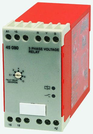 Broyce Control Phase, Voltage Monitoring Relay With SPDT Contacts, 230 V ac, 400 V ac Supply Voltage, 3 Phase,