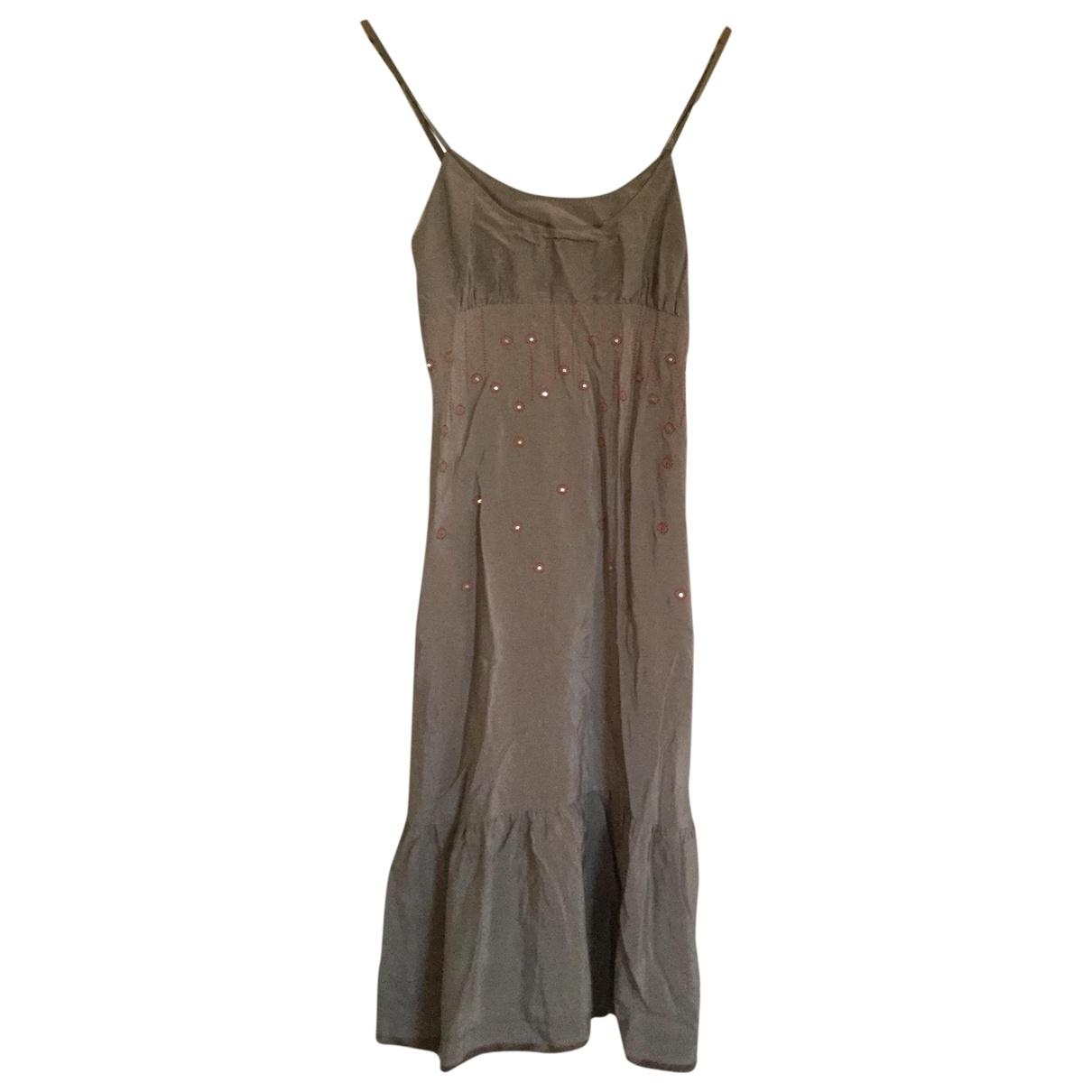Sandro \N Beige Silk dress for Women 36 FR