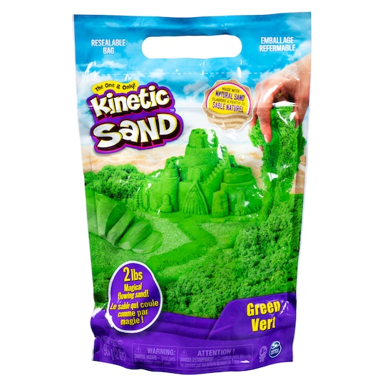 Kinetic Sand™ Colored Sand in Green | 2 lb | Michaels®