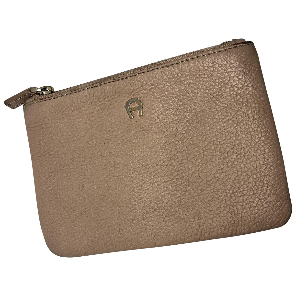 Aigner \N Beige Leather Purses, wallet & cases for Women \N