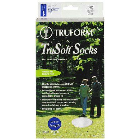 Truform TruSoft Crew Length Sock Mild (8-15 mm) Compression Medium - 1.0 pr