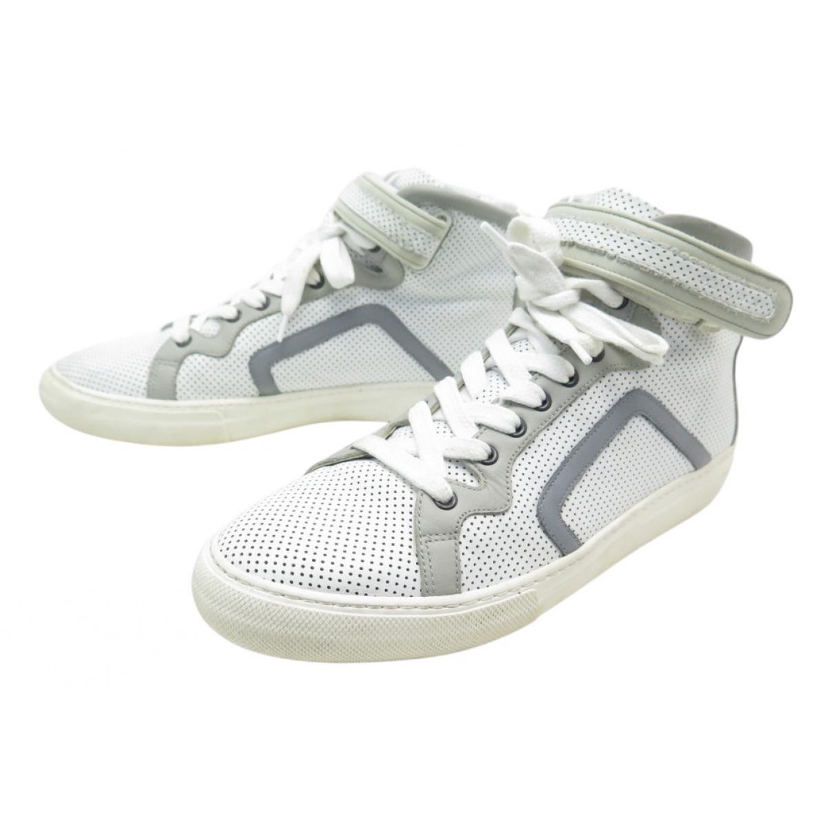 Pierre Hardy \N White Leather Trainers for Women 42 IT