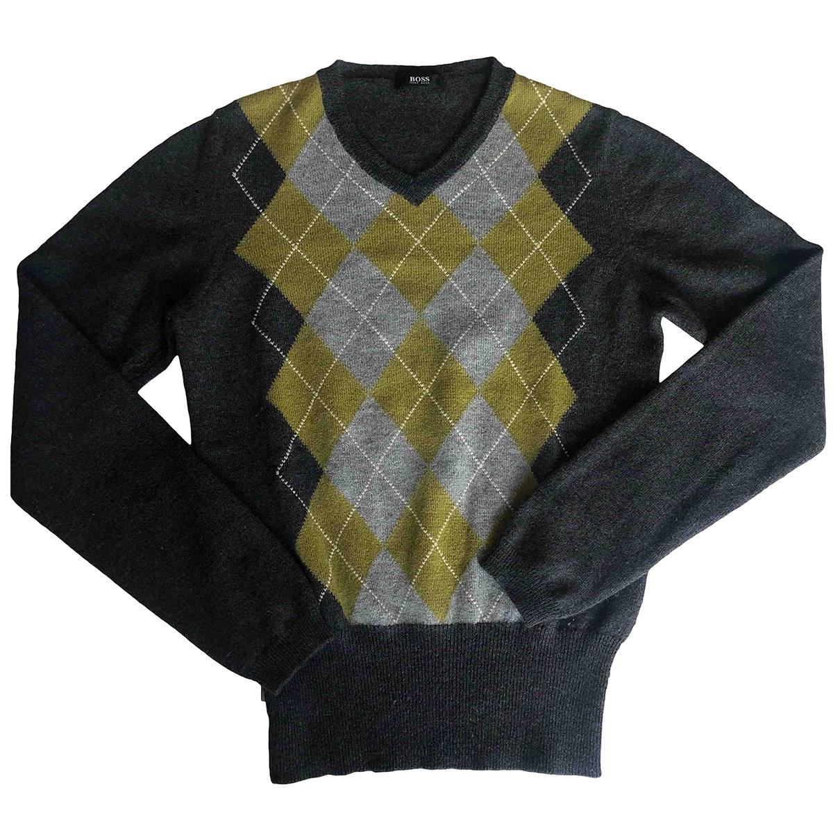 Boss \N Pullover in  Grau Wolle