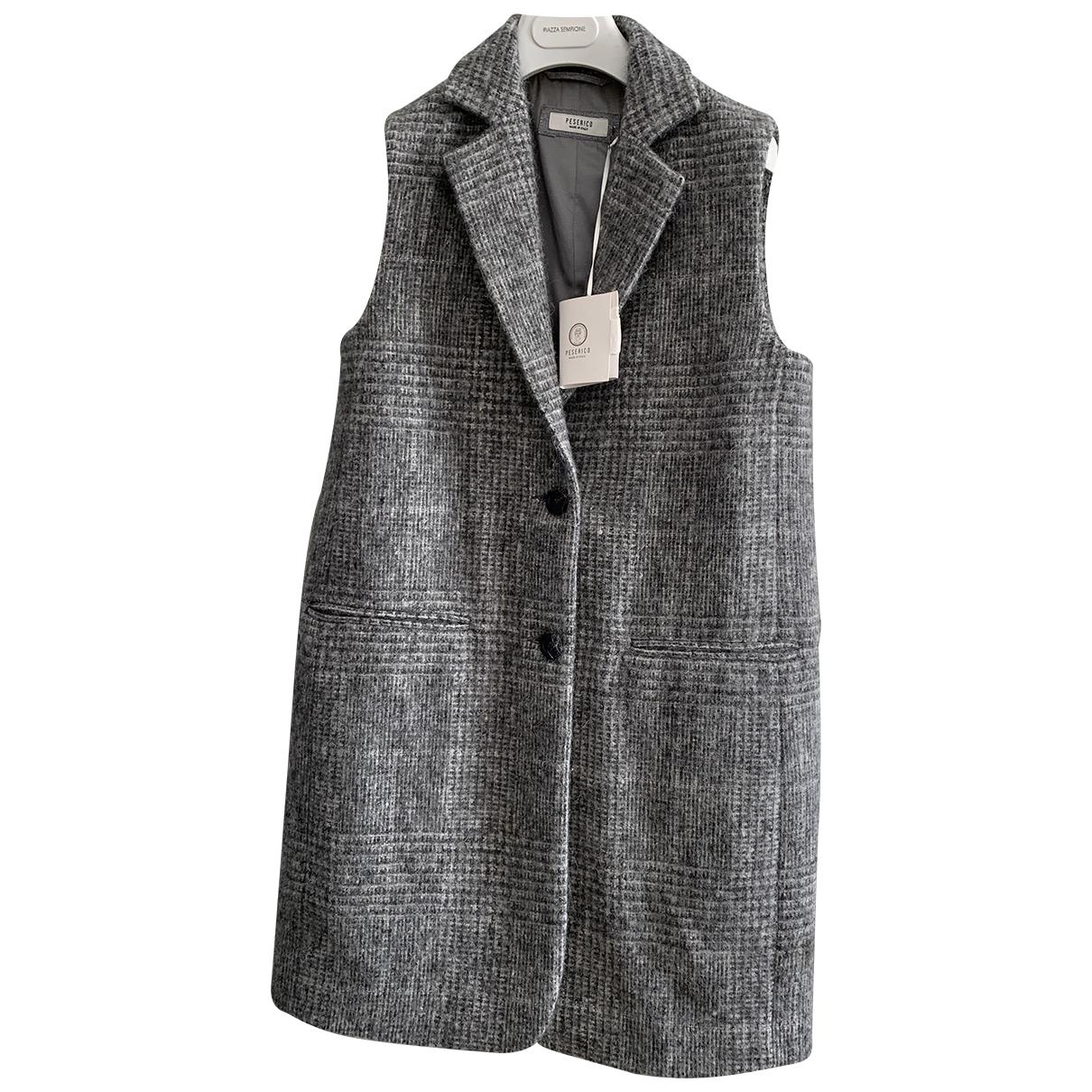 Peserico - Manteau   pour femme en laine - gris