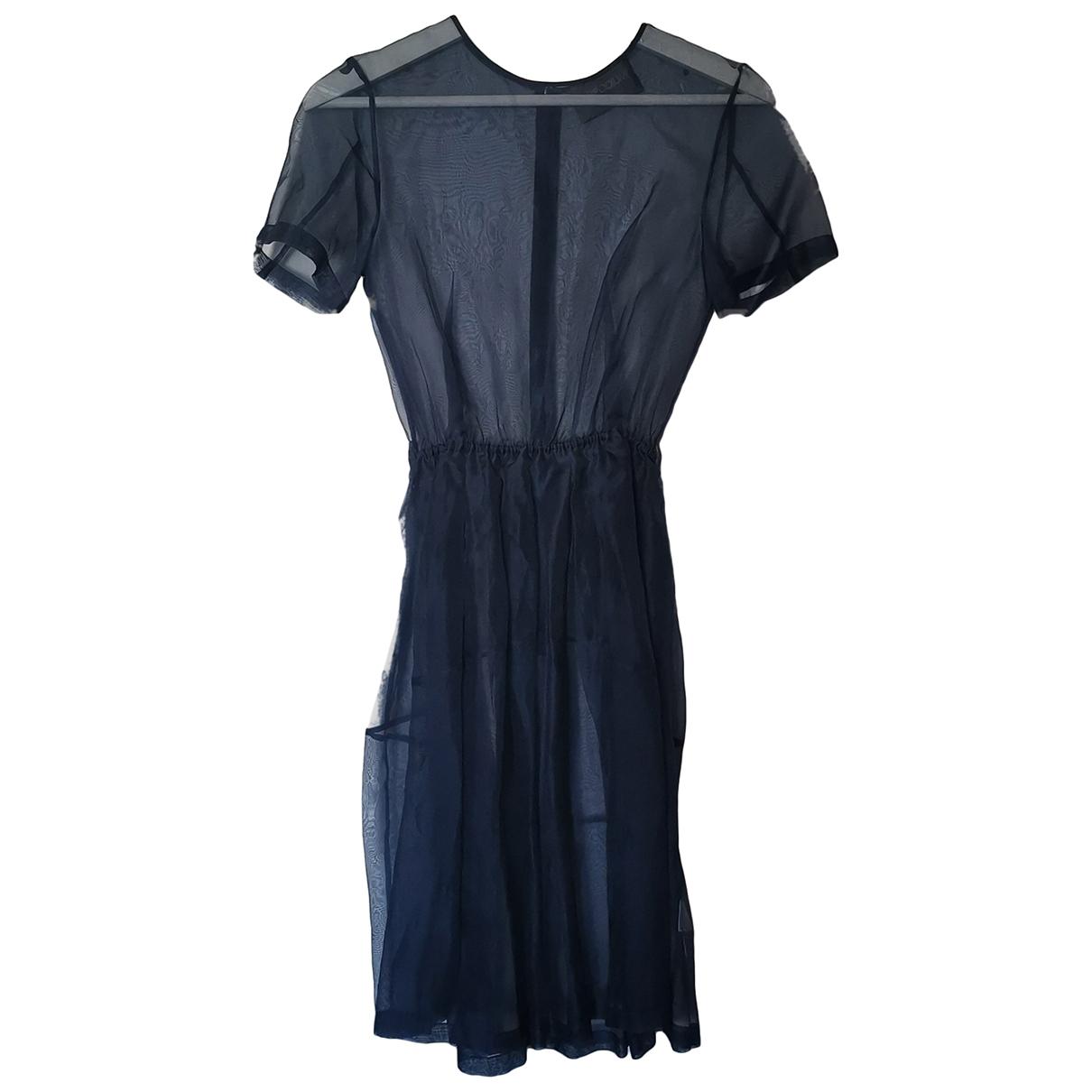 Antipodium \N Kleid in  Marine Seide