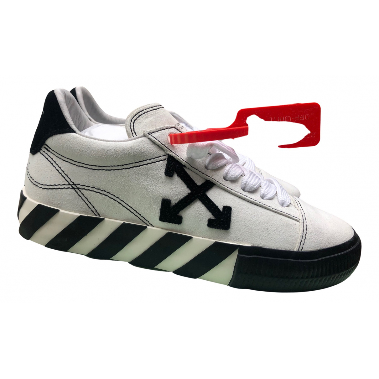Off-white Vulcalized White Leather Trainers for Women 40 EU