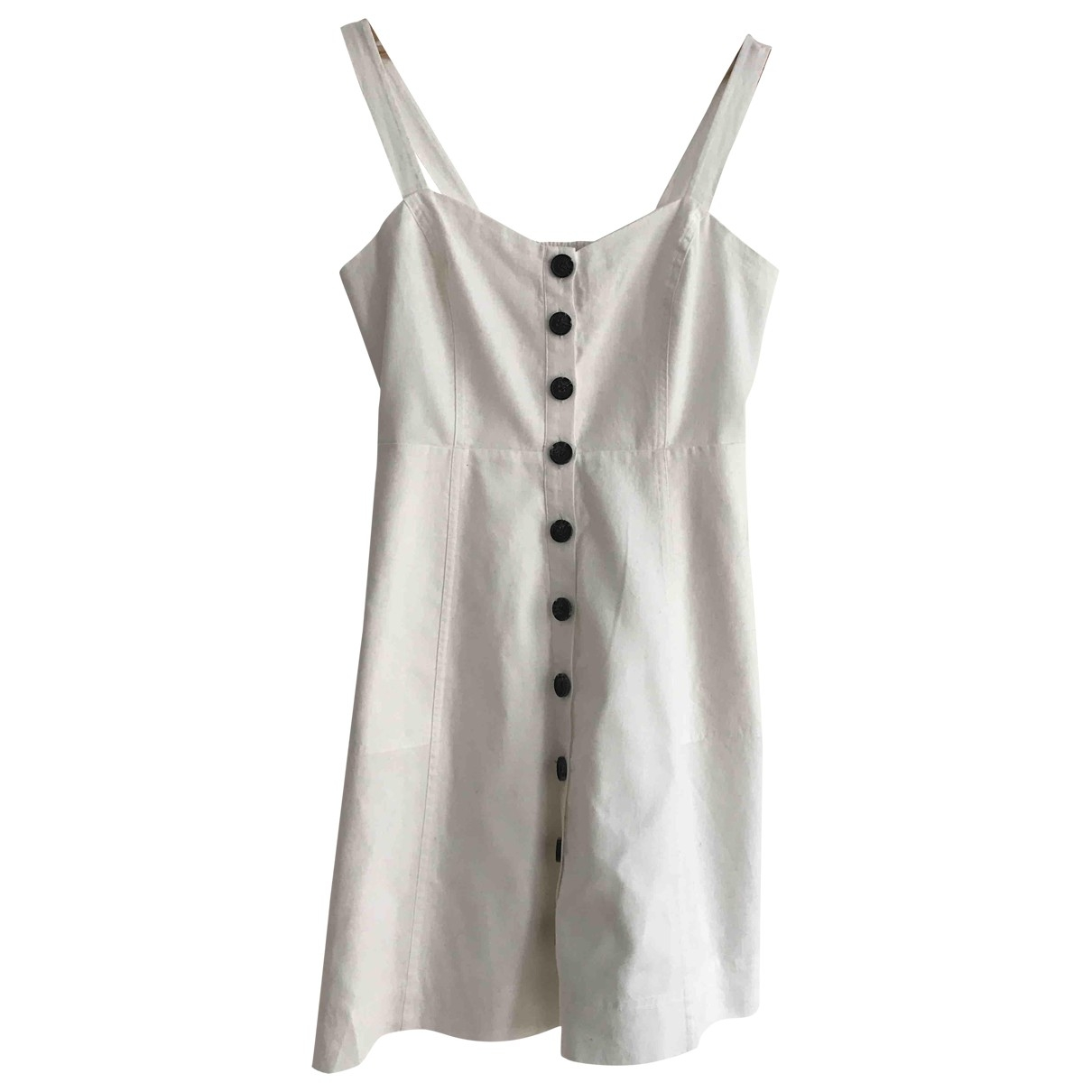 Madewell \N White Cotton dress for Women 6 US