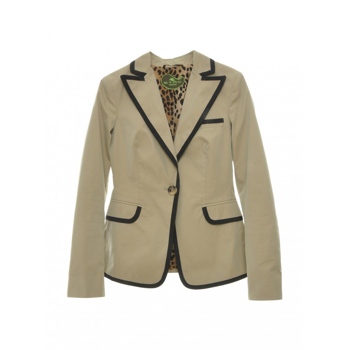 Etro - Veste   pour femme en coton - beige