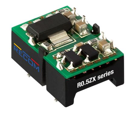 Recom R0.5ZX 0.5W Isolated DC-DC Converter Surface Mount, Voltage in 4.75 → 5.25 V dc, Voltage out 5V dc