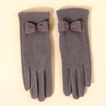 Handschuhe mit Schleife Dekor