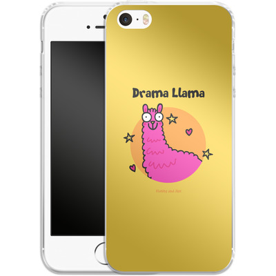 Apple iPhone 5s Silikon Handyhuelle - Drama Lama von Flossy and Jim