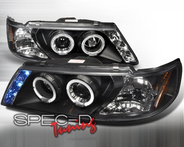 SpecD Black Halo LED Projector Headlights Nissan Sentra 95-99