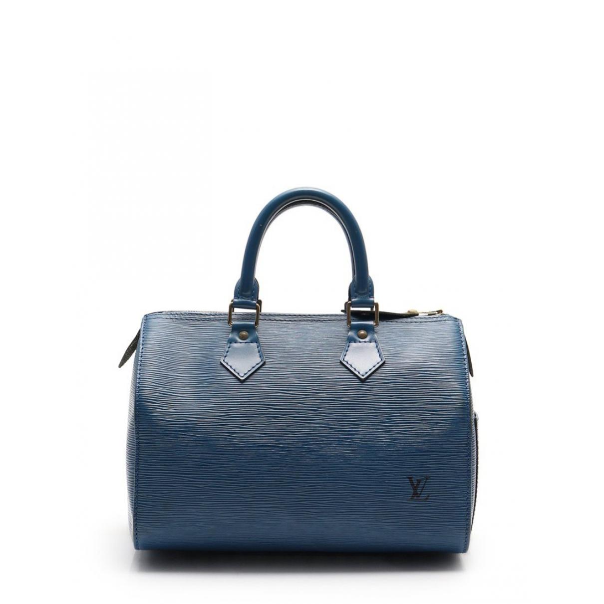 Louis Vuitton - Sac a main Speedy pour femme en cuir - bleu