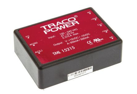 TRACOPOWER , 15W Embedded Switch Mode Power Supply SMPS, ±15V dc, Encapsulated