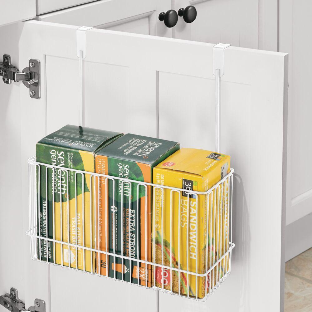 Metal Over Cabinet Storage Basket in Black, 5.2