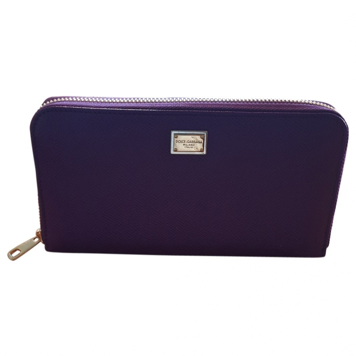 Dolce & Gabbana \N Portemonnaie in  Lila Leder