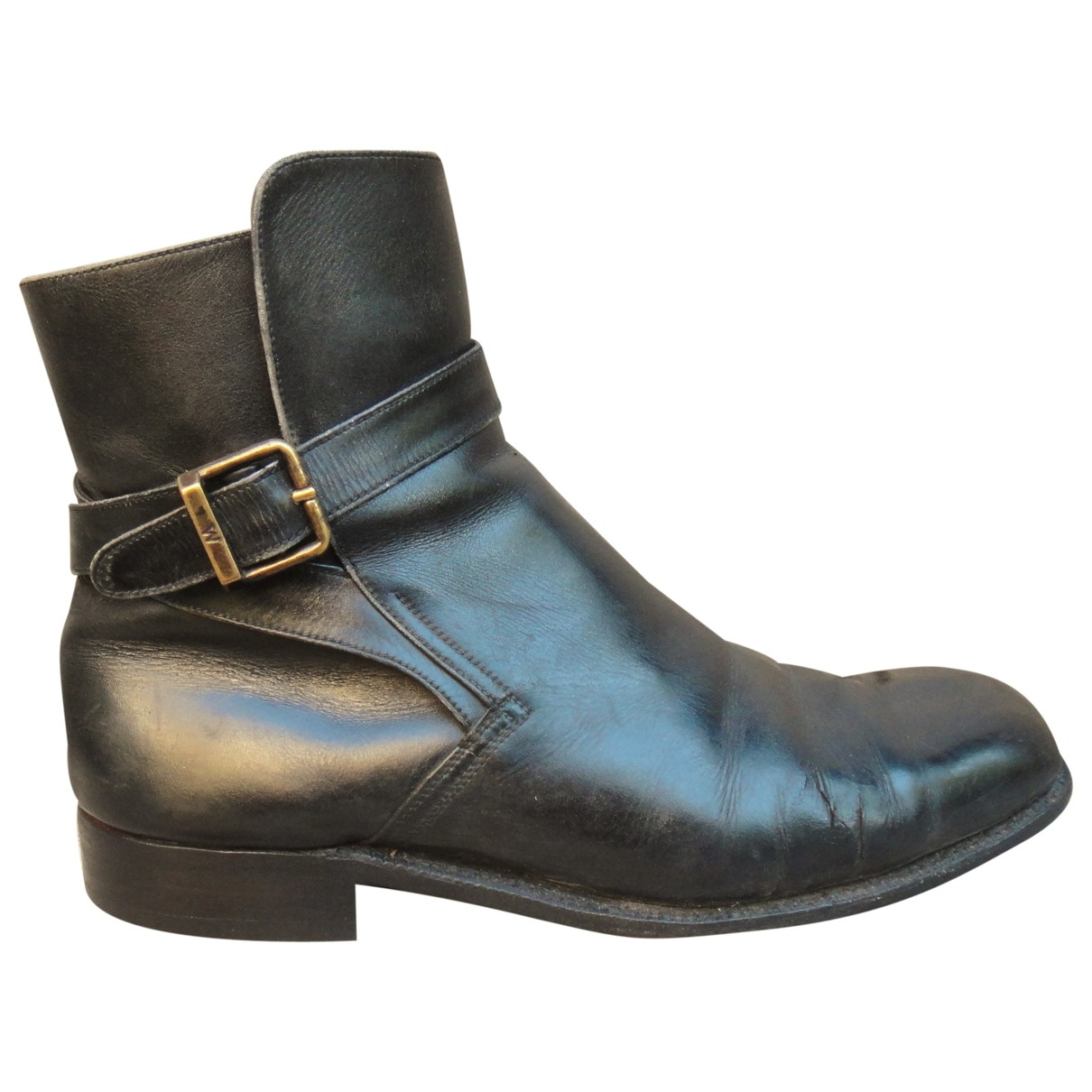 Jm Weston \N Black Leather Ankle boots for Women 6.5 UK