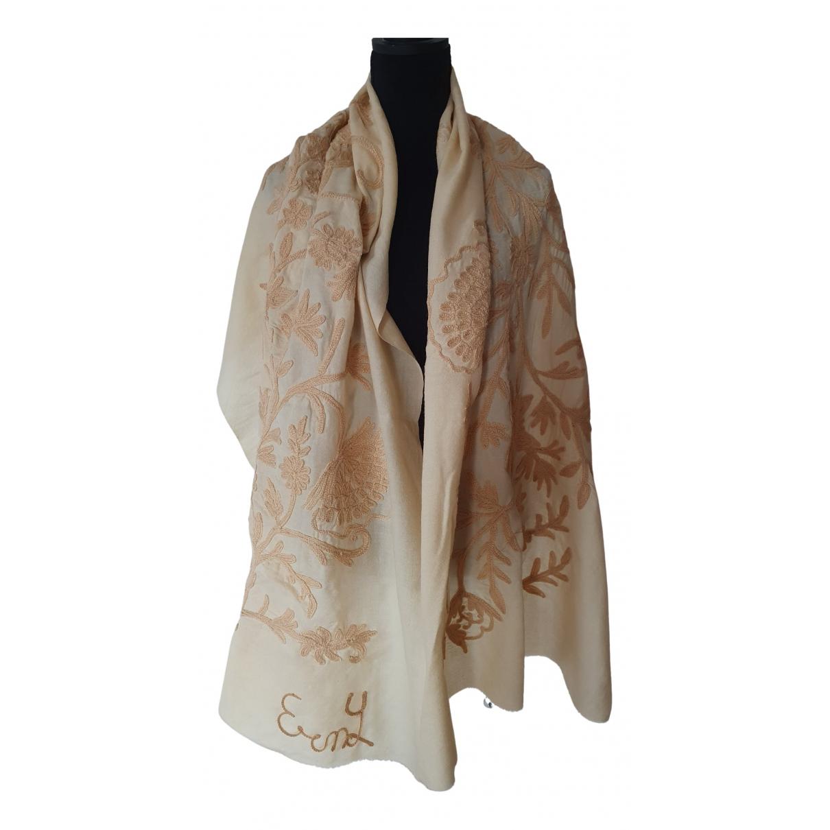 - Foulard   pour femme en laine - beige