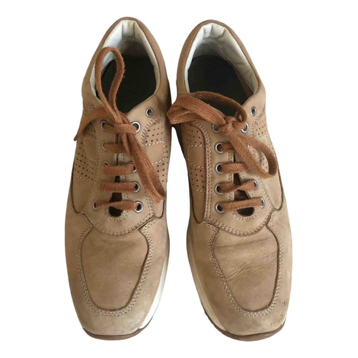 Hogan \N Camel Suede Trainers for Women 38.5 IT
