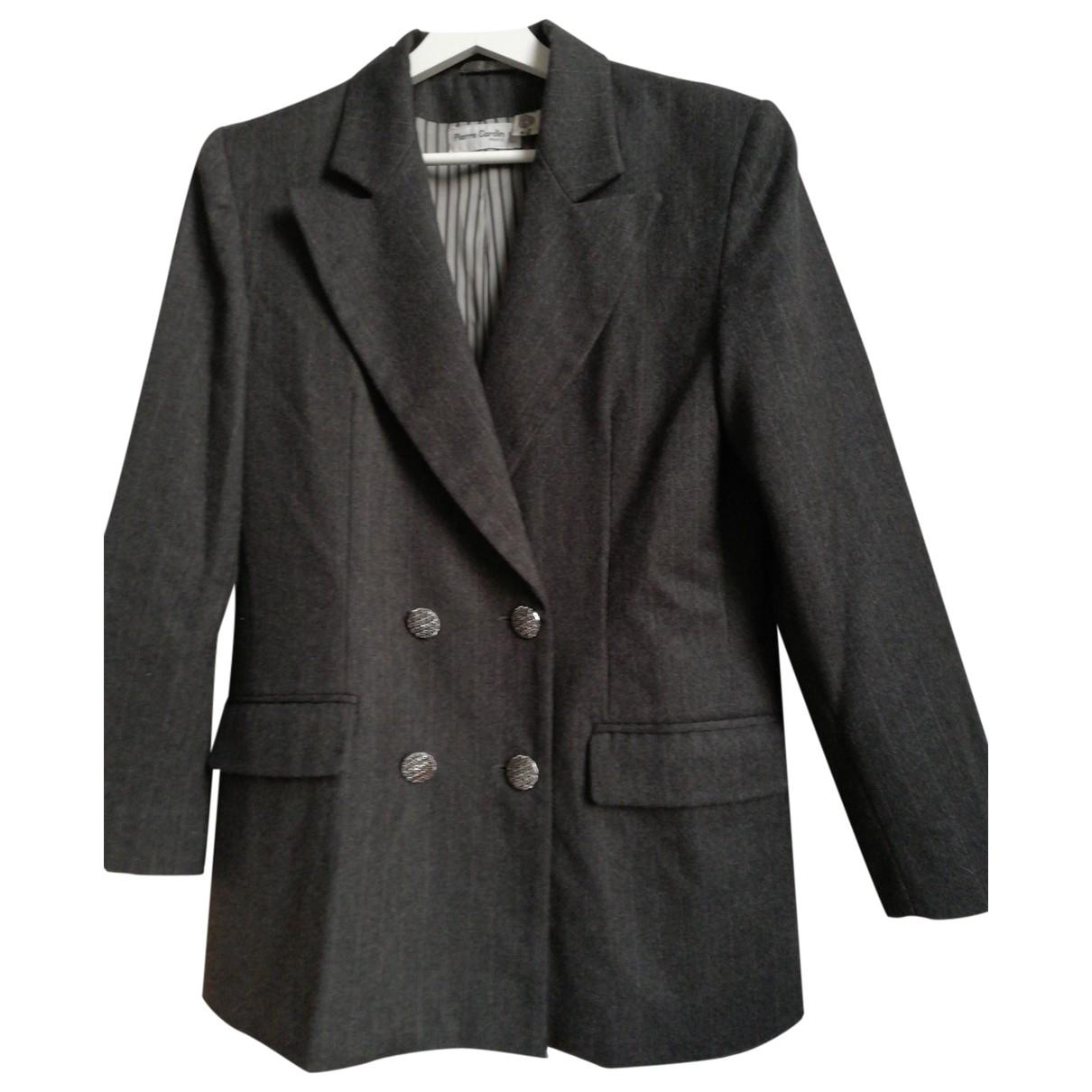 Pierre Cardin \N Jacke in  Grau Wolle