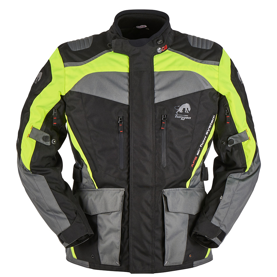 Furygan Apalaches Black Yellow Fluo Motorcycle Jacket L
